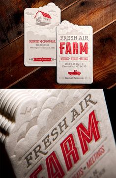 Whimsical Die-cut Letterpress Business Card