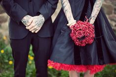 Aimee & Ben's Heavily Tattooed, Handfasting Vow Renewal