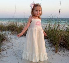 White Beach Dress by SewChristi on Etsy