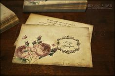 Romantic rose botanica wedding invitation - Vintage Wedding stationery - Beyond Verve