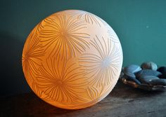 Fronds Porcelain Lamp by AmyCooperCeramics on Etsy, £200.00