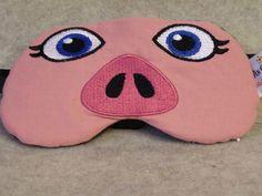 Embroidered Eye Mask for Sleeping, Cute Sleep Mask for Kids  Adults, Sleep Blindfold, Eye Shade, Slumber Mask, Pig Face Design, Handmade