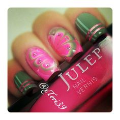 Julep's Fan Nail of the Day by xTori39 on Instagram