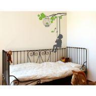 Salıncak ve Ağaç Dalı Çocuk Odası Duvar Sticker (3) http://www.stickerdepo.com/