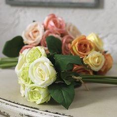 Colorful Silk Rose Bundles, Set of 3