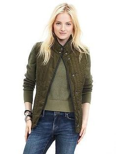 98.00$  Buy here - http://vieij.justgood.pw/vig/item.php?t=dba4b231901 - Banana Republic Quilted Field Vest, Seaweed, size XL, NWT 98.00$