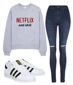 """Untitled"" by rebzierox3 ❤ liked on Polyvore featuring George and adidas"