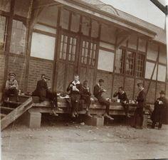Originalfoto 7,5x7,5cm, Schüler, Köslin 1917