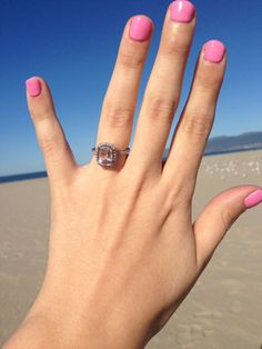 My morganite and diamond engagement ring, and the story of how it came to be!
