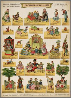 Les Champs Élysées en From the collection: Come and see! Puppetry in pictures. Date of creation: Victorian Toys, Toy Theatre, Bobe, Paper Houses, Vintage Paper Dolls, Toy Craft, Toys Shop, Paper Models, Paper Toys