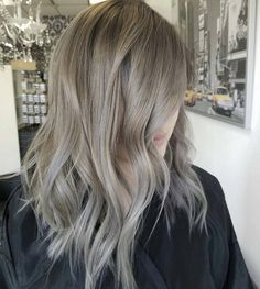"""behindthechair.com on Instagram: """"Greige... by @sammiiwang #behindthechair #haircolor #grayhair #haircolorist"""""""
