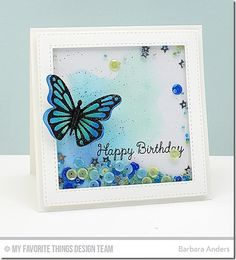You're the Sweetest, Flutter of Butterflies - Lace Die-namics, Flutter of Butterflies - Solid Die-namics, Stitched Square Frames Die-namics - Barbara Anders Cute Cards, Diy Cards, Washi, Window Cards, Interactive Cards, Card Sentiments, Scrapbook Cards, Scrapbooking, Shaker Cards