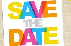 Neon wedding save the date Neon Colour Palette, Neon Colors, Bright Colors, Wedding Save The Dates, Save The Date Cards, Bright Eyes, Grafik Design, Color Inspiration, Destination Wedding