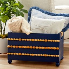 Wood Crate with Beads Diy Craft Projects, Wood Projects, Diy And Crafts, Projects To Try, Craft Ideas, Michaels Crates, Project Steps, Michael Store, Wood Crates