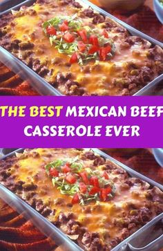 The best Mexican beef casserole ever dinner The post The Best Mexican Beef Casserole Ever Dinner appeared first on Tasty Recipes. One Dish Meals Tasty Recipes Authentic Mexican Recipes, Ground Beef Recipes Mexican, Best Mexican Recipes, Healthy Mexican Food, Mexican Easy, Recipes Using Ground Beef, Italian Recipes, Mexican Beef Casserole, Beef Casserole Recipes