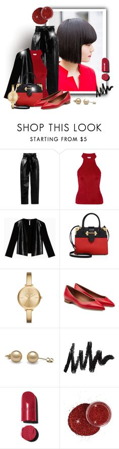 """Black & Red"" by elona-makavelli ❤ liked on Polyvore featuring moussy, philosophy, Yves Saint Laurent, Max&Co., Prada, Michael Kors, Malone Souliers and Chanel"