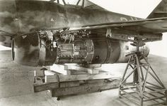 me 262A-1a 500071 sits on jacks 1945