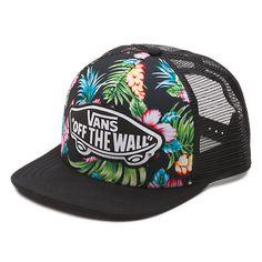 Beach Girl Trucker Hat (Hawaiian Black)