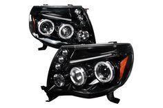 Toyota Tacoma  2005-2011 Smoke Halo Projector Headlights  W/LED'S