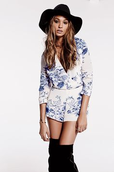 The Non Flower-Child Guide To Wearing Free People #refinery29  http://www.refinery29.com/2014/07/72021/free-people-joan-smalls#slide7