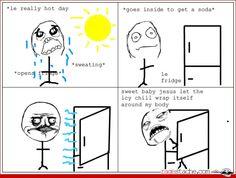 Comic - fridge on a hot day