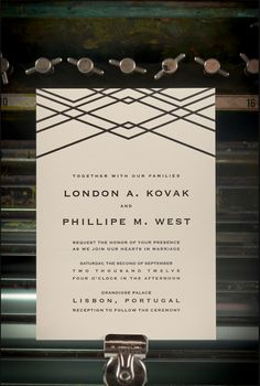 This is an idea of the style of design work I love to do - this is a letterpress invitation called London. My work is often inspired by architecture and fashion - so in a style shoot or shots for my site, I would want a similar feel to come across: Stylish, Modern, Charming!