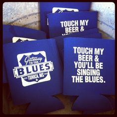 Koozies from our open house event that can be purchased in the Gateway to the Blues Visitor Center gift shop.