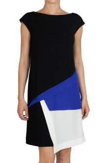 ISOLA MARRAS - DRESS - 230242 - BLACK/BLUE - €190 - www.commetoi.it/eshop