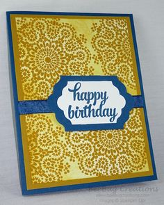 Handmade Card Ideas with Moroccan Nights stamp set from Stampin' Up!  http://www.beebugcreations.com