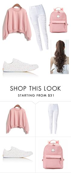 """""""I'm getting that sweatshirt"""" by lovefashion223 ❤ liked on Polyvore featuring WithChic, Converse and Pin Show"""
