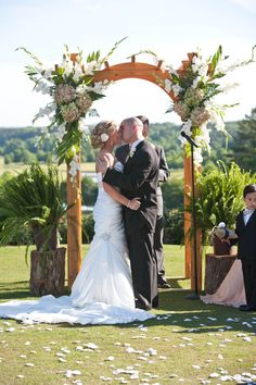 Wedding Arbor. dont like the flowers but shape is nice, in a darker color.