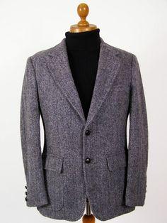 Harris Tweed jacket slim fit flap patch pocket 38R.. £59 @ Tweedmans Vintage