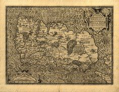 Map Of Ireland From The 1500s 035 Ancient Old by phraseandfable