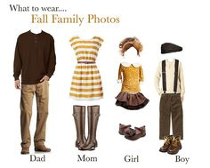 Great look for a whole family. Remember that clothes that look fantastic in a photo are not necessarily the same thing as what you would typically wear.