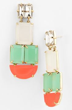 Love these statement earrings for a little bit of color