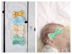 Ok, these are my new favorite! I'm in love with these adorable no-sew fabric bows! They're so fast and easy and you can use scrap fabric to make them! I have to make some of these for my little Desi. Stephanie {Creative Team} is sharing her awesome
