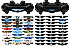 eXtremeRate 60 Pcs/Set Game Theme Led Lightbar Cover Light Bar Decals Stickers for Playstation 4 PS4 PS4 Slim PS4 Pro Controller Skins