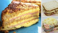 Křupavý sendvič ,,Monte Cristo,, Monte Cristo Sandwich, Toast Sandwich, Sandwich Recipes, French Toast, Sandwiches, Good Food, Brunch, Tasty, Treats