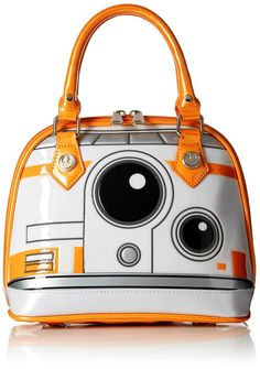 Loungefly Star Wars Patent Dome Handbag This is the droid purse you're looking for. Keep your personals safe with A patent shine and textured construction make this handbag one awesome accessory. Officially licensed Star Wars handbag Part o Bb8 Star Wars, Disney Handbags, Mini Handbags, Patent Leather Handbags, Leather Purses, Leather Bags, Leather Jewelry, Traje Casual, Chicano