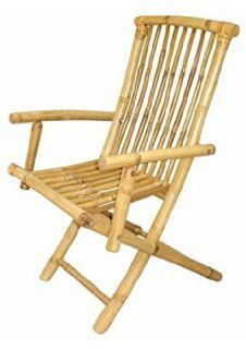 folding bamboo garden chair