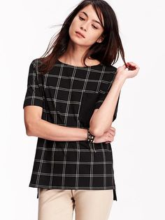 Women's Plaid Pocket Tees Product Image