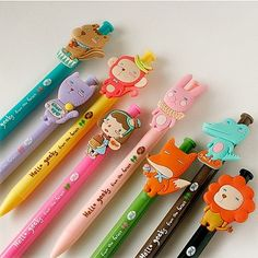 Cute character pencils! #Korea