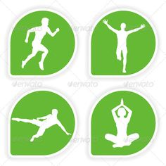 Collect Sticker with Sport Silhouettes  #GraphicRiver         Collect Sticker with silhouettes running man, yoga girl and soccer player, vector illustration     Created: 8September11 GraphicsFilesIncluded: VectorEPS #JPGImage Layered: No MinimumAdobeCSVersion: CS Tags: button #collect #girl #graphic #green #icon #illustration #internet #label #man #pictogram #set #sign #soccer #stamp #sticker #sticky #success #symbol #vector #white #woman #yoga