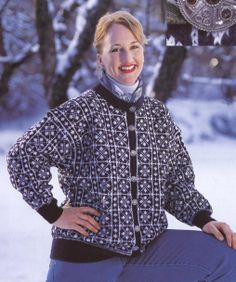 Østerdalskoften - Norske kofter og gensere. Osterdal's cardigan - Norwegian cardigans and sweaters Norwegian Knitting, Fair Isle Knitting, Knit Scarves, Stitch, Afghans, Shawls, People, Sweaters, Inspiration