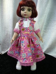 Robe rose et chemisier blanc assorti  pour  poupée Patsy  Doll TONNER outfit de la boutique dollofdawn sur Etsy