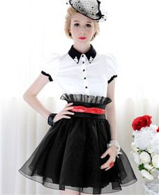 Pink Doll Womens White-Black Splicing Beaded Collar With Shot Puff Sleeve Shirt $27.00 http://www.4leafcity.com/womens-white-black-splicing-beaded-collar-with-shot-puff-sleeve-shirt-product-2080.aspx