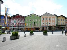 Downtown Mondsee, Austria. If you want amazing schnitzel, go to the green building in the middle :)