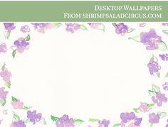Floral Desktop Wallpaper . Freebies - Shrimp Salad Circus Dress Your Tech, Shrimp Salad, Desktop Wallpapers, Hand Painted, Iphone, Rose, Floral, Color, Backgrounds For Desktop