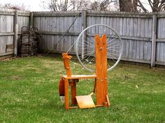 Thrifty Fox Spinning Wheel  DIGITAL PDF PLANS by MysticFoxHollow, $14.99