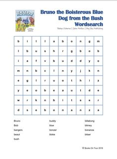 Bruno's Downloadable Literacy Activities - Nouns And Adjectives, Alliteration, Blue Dog, Literacy Activities